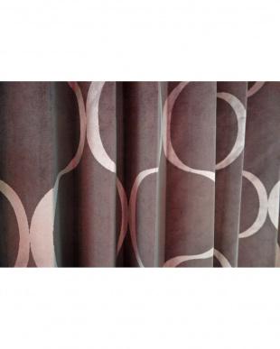 パープル  PINKERTONドレープカーテン 200cm(幅)×200cm(丈)見る