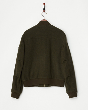 OLIVE/OD A/MILL WOOL MA-1 MEN見る