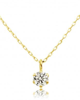 K10YG 天然ダイヤモンド 豪華2点福袋 6本爪ネックレス&プチピアス [2点合計0.14ct]見る