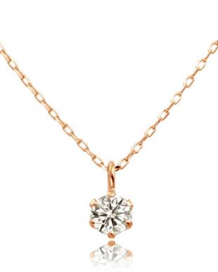 K18PG 天然ダイヤモンド 豪華2点福袋  6本爪ネックレス&プチピアス [2点合計0.14ct]見る