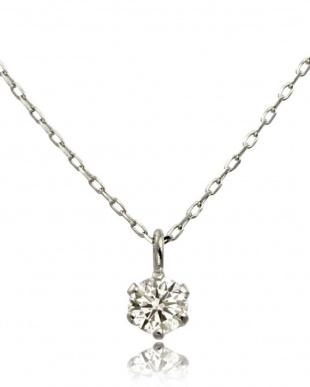 K18WG 天然ダイヤモンド 豪華2点福袋  6本爪ネックレス&プチピアス [2点合計0.14ct]見る