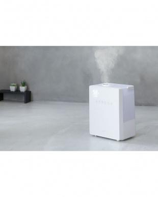 ホワイト  ハイブリッド加湿器「NEWスクエアミスト」 湿度コントロール機能付見る