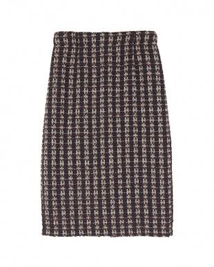 ブラウン ツイードタイトスカート見る