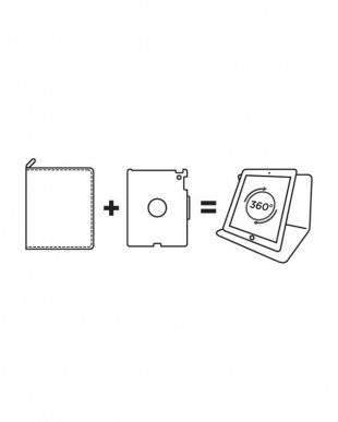 ブラック ラージ iPad2 3 4ホルダー  タブレットケース用見る