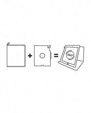 ブラック ラージ iPad Airホルダー タブレットケース用見る