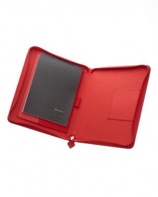 レッド サフィアーノジップ タブレットケース ラージサイズを見る