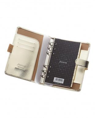 ゴールド サフィアーノ システム手帳 バイブルサイズを見る