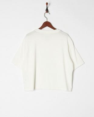 ホワイト×ホワイト パウダーサテン Tシャツ見る