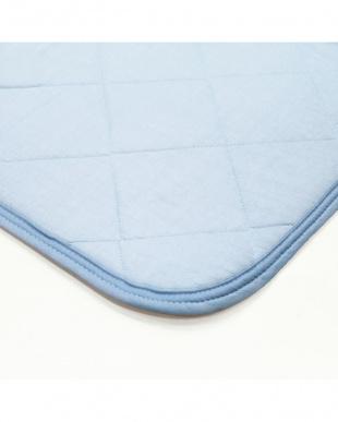ブルー ガーゼ敷きパッド 120×205cm見る