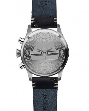 ブルー  腕時計見る