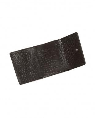バニラ  クロコダイル&牛革クロコ型押しコンパクト財布見る