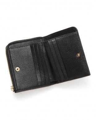 ブラックブラック  クロコダイルコンパクト財布見る