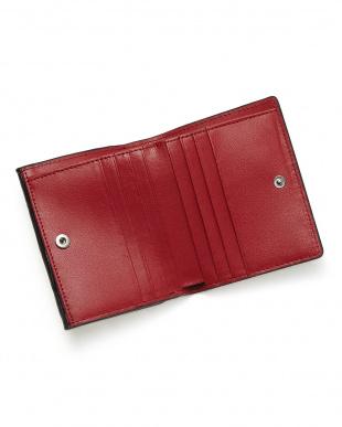ブラックレッド  クロコダイルコンパクト財布見る