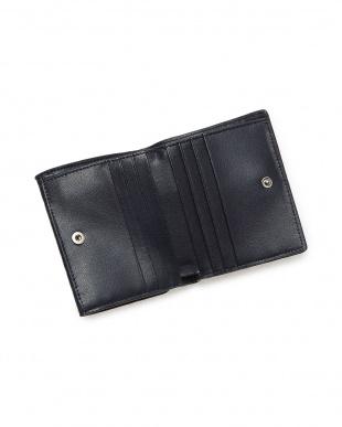 ネイビーネイビー  クロコダイル コンパクト財布見る