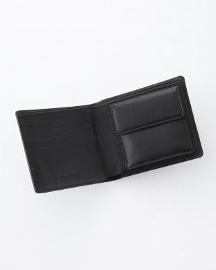 二つ折り財布 ブラック見る