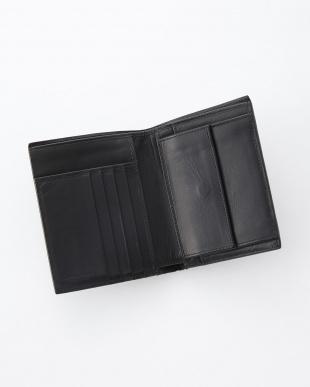 イントレチャート二つ折り財布 ブラック見る
