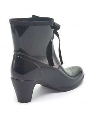 ブラック Short logo Lace Bootsを見る