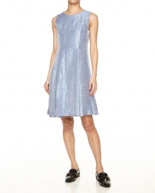 ライトブルー プチプライス ドレス企画 グラムツィルドレスワンピース見る