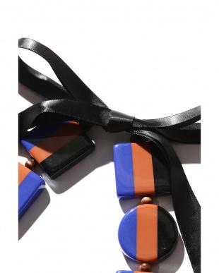 BLACK+BROWN+BLUE1 ネックレス R/B(バイイング)見る