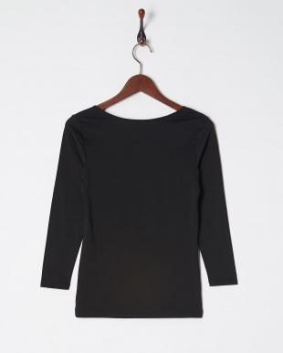 ブラック 肌側起毛 ストレッチ 8分袖シャツ 瞬暖を見る