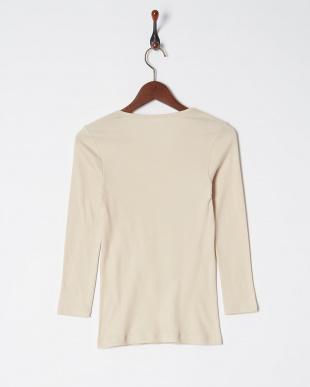 ベージュ 綿100% 裏起毛 8分袖シャツ 綿暖を見る