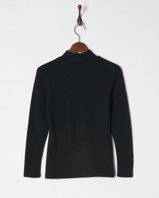 ブラック 極厚 裏起毛 吸湿発熱 10分袖ハイネックシャツを見る