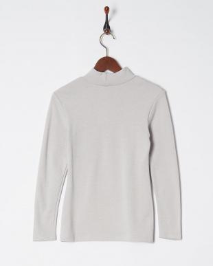 シルバーグレー 極厚 裏起毛 吸湿発熱 10分袖ハイネックシャツを見る