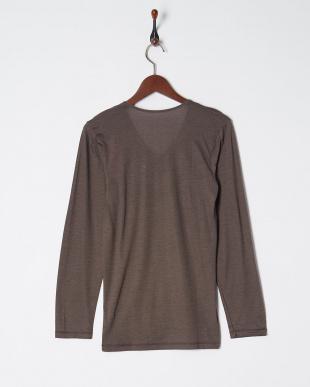 チャコールグレー 吸湿発熱極薄HEAT EDIT クルーネック長袖シャツを見る
