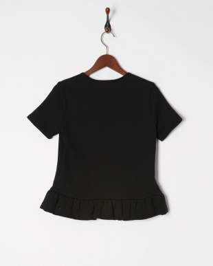 Black COTTON JERSEY TOPSを見る