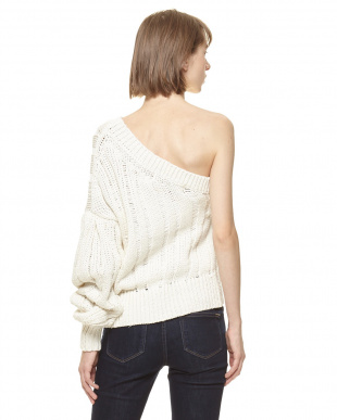 White ONE SHOULDER KNIT POを見る