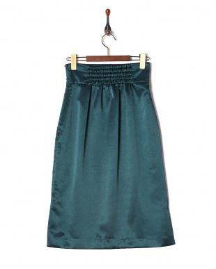 Dグリーン フロントタックサテンスカートを見る