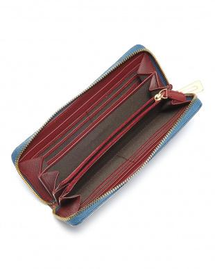 ブルー マットクロコダイル長財布を見る