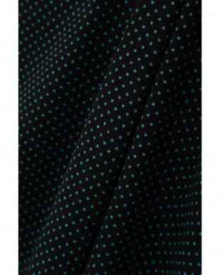 ブラック×グリーン 重ね袖ギャザードットカットソー Aylesbury見る