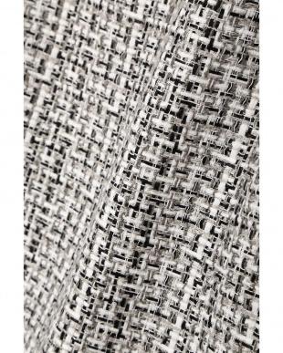白×黒1 クルーネックファンシーツィードジャケット Aylesbury見る