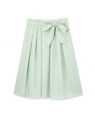 グリーン リボン付スプリングカラースカート Aylesbury見る