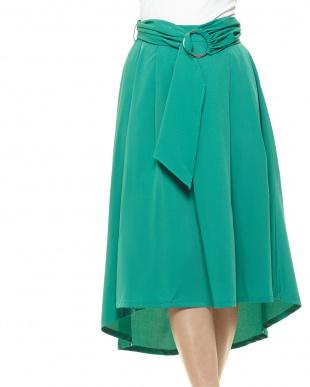 グリーン フィッシュテールスカートを見る