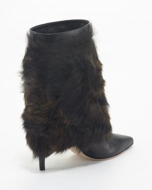 クロ SERGIO ROSSI 9cm Fur Short Bootsを見る