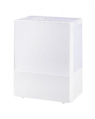 ホワイト  ハイブリッド加湿器「スクエアミスト」 湿度コントロール機能付見る