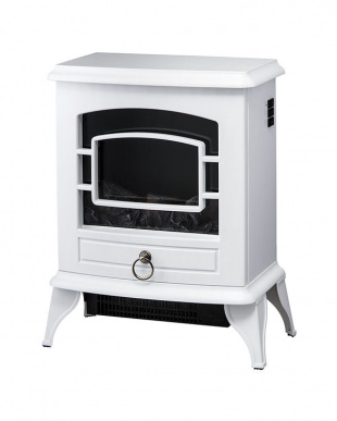 ホワイト  ノスタルジア 暖炉型ヒーター見る
