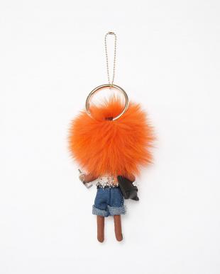 オレンジ バッグチャームを見る
