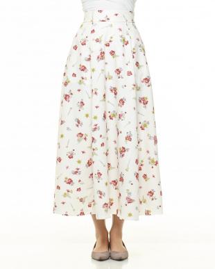 OW フラワープリントロングスカートを見る