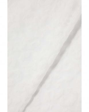 ホワイト1 ヒョウ柄スタンドネックシースルーブラウス R/B(オリジナル)見る