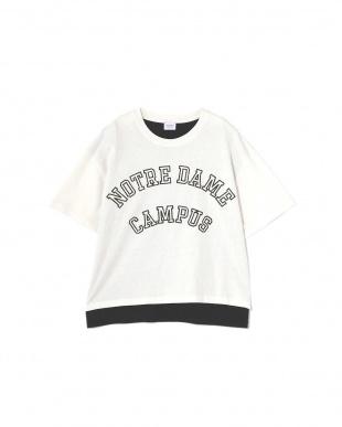 ホワイト1 カレッジロゴTシャツ R/B(オリジナル)見る