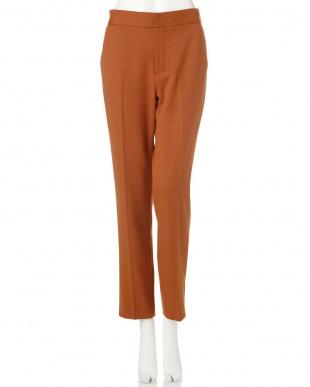 オレンジ ◆大きいサイズ◆ヘムベンツパンツ 22 OCTOBRE L見る