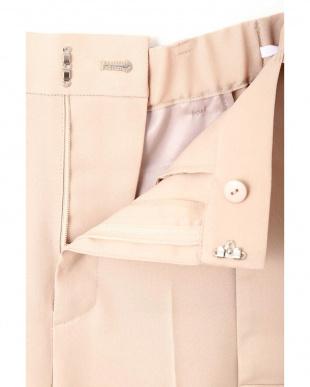 ピンク ◆大きいサイズ◆[洗える]シルク調ツイルセットアップパンツ 22 OCTOBRE L見る