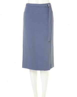 ブルー ◆大きいサイズ◆ダブルサテンスカート 22 OCTOBRE L見る