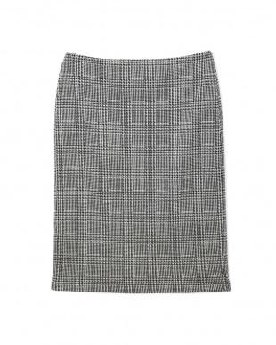 グレー ◆大きいサイズ・セレモニー対応◆グレンチェックジャカードスカート 22 OCTOBRE L見る