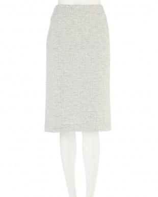 ライトグレー1 ◆大きいサイズ・セレモニー対応◆グレンチェックジャカードスカート 22 OCTOBRE L見る