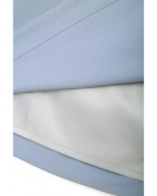 ブルー ◆大きいサイズ◆フィッティーフレアスカート 22 OCTOBRE L見る