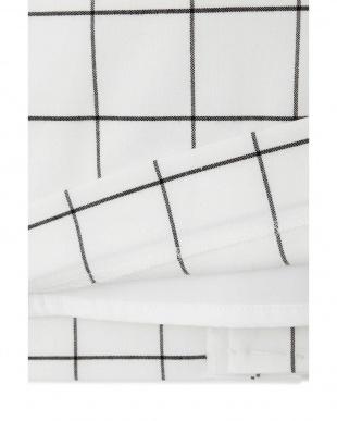 ホワイトチェック1 ◆大きいサイズ◆TRトロストレッチスカート 22 OCTOBRE L見る
